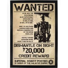 IG-88 Wanted Poster – Falstaff Trading