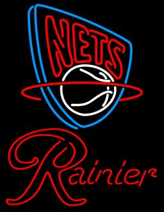 Rainier New Jersey Nets NBA Neon Beer Sign, Rainier with NBA | Beer with Sports Signs. Makes a great gift. High impact, eye catching, real glass tube neon sign. In stock. Ships in 5 days or less. Brand New Indoor Neon Sign. Neon Tube thickness is 9MM. All Neon Signs have 1 year warranty and 0% breakage guarantee.