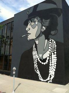 "USINAMDE | ""Coco Chanel"" by David Flores. Located in Los Angeles, CA.                                                                                                                                                      More"