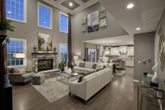 Spacious family room at Hamlet Meadows in Canton, Mich.