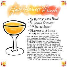 OSBP Signature Cocktail Recipe Card Fall Harvest Punch Shauna Lynn Illustration