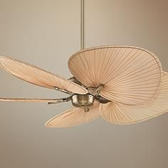 Discover the best palm leaf ceiling fans at Beachfront Decor. We have a ton of different palm ceiling fans that are perfect for a tropical beach home. Ceiling Fans Without Lights, Best Ceiling Fans, Tropical Ceiling Fans, Brass Ceiling Fan, Tropical Bedroom Decor, Palm Tree Decorations, Ceiling Fan Makeover, Home Ceiling, Ceiling Decor