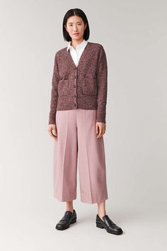 ROUNDED WOOL CULOTTES - Pink - Culottes - COS Pink Culottes, Trousers, Pants, Wide Leg, Cashmere, Women Wear, Normcore, Legs, Wool