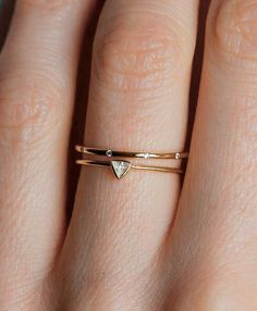 Triangle wedding bands