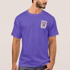 Leiomyosarcoma Awareness Ribbon Purple Angel Custom Tee Shirts