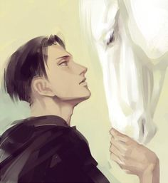 Attack on Titan ~~ In this fanart, he finally almost looks to be a man in his mid-30's. Thank you. :: Levi