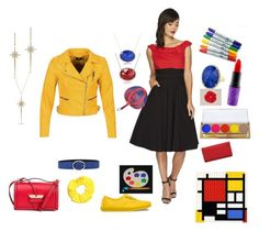 """""""Primary Colours"""" by saffron-rose on Polyvore featuring ONLY, Unique Vintage, Orciani, Vans, Loewe, Diamond Star, MAC Cosmetics and Winky Lux"""