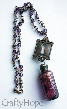 Drink Me Alice Necklace by CraftyHope