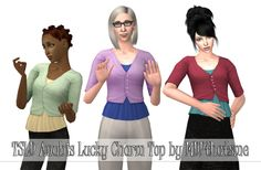 THIS IS FOR THE SIMS 2.Tombstoneoflifeanddeath converted Anubis's outfit Lucky Charm for Sims 2. This is basically the dress cut off to make a top. TF-EF. It has all the original colors. Know issues: clipping mostly. Credits:Anubis for originalTSLD for conversionModels by EAxisDOWNLOAD
