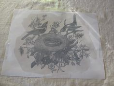 transfer an image on the linen
