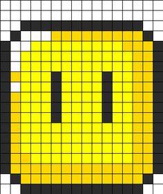 Super Mario Block Perler Bead Pattern | Bead Sprites | Misc Fuse Bead Patterns