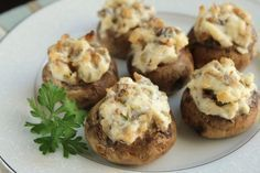 Stuffed Mushrooms With Cream Cheese & Sausage. Photo by Delicious as it Looks