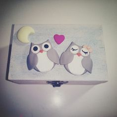 Clay owls box #gioiedifimo