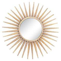 Sunburst Decorative Wall Mirror Gold - Go Home