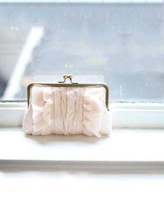 Blush Clutch  Bridal Clutch  Wedding Clutch  by DavieandChiyo