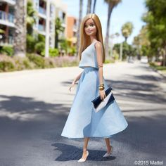 Stepping out with my best foot forward! #barbie #barbiestyle