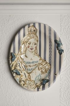 Queen Victoria   Oval Wall Dish by Anna Collette Hunt    www.annacollettehunt.com