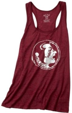 Show your team spirit on game day in this Florida State University tank top featuring racerback, chest pocket and a burnout design with the FSU Seminoles logo icon on the front. Quality construction that never goes out of style along with the FSU football team spirit. GO NOLES!