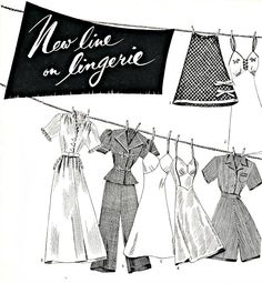 New Line on Lingerie - from Glamour Magazine in 1943