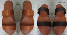 Sandali in pelle fatti a mano realizzati in Grecia da Penelope Sandals Real Leather, Soft Leather, Brown Leather, Smart Dress, Shoes Too Big, Summer Flats, Ancient Greek Sandals, Designer Sandals, Slide Sandals