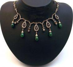 Emerald Necklace, Pendant Necklace, Van Cleef Arpels, Baroque, Lgbt, Vintage Jewelry, Copper, Gems, Pendants