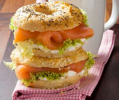 Bagels au saumon et au fromage