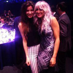 Eleanor Calder and Louis Teasdale at Brit Awards 2013