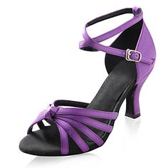 Satin Upper High Heel Dance Shoes Latin shoes Ballroom Practice Shoes for Women More Colors – USD $ 23.99