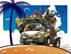 OP: 夏 | TMNT 2012 Tmnt 2012, Ninja Turtles Art, Teenage Mutant Ninja Turtles, Gi Joe, Leonardo Tmnt, Arte Nerd, Tmnt Comics, Spiderman, Cartoon Crossovers