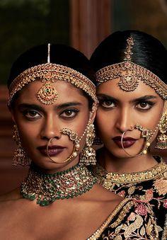 "sabyaasachi: """"FIRDAUS by Sabyasachi Models: Archana Akhil Kumar & Dayana Erappa "" "" Indian Bridal Makeup, Indian Bridal Fashion, India Beauty, Asian Beauty, Indian Aesthetic, Indian Photoshoot, Velvet Gown, Looks Style, Indian Outfits"
