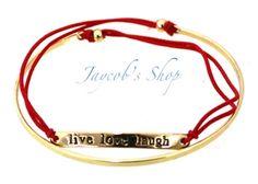Live Love Laugh Red Bracelet by JaycobShop on Etsy $7.75 #armparty #wristwear #armswag #wristgame #pretty #love #beautiful #braceletstacks #trendy #instagood #fashion #braceletsoftheday #jewelry #fashionlovers #fashionista #accessories