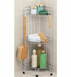 Whitmor 6060-3572-BB 3-Tier Wire Shower Shelf, Deluxe, Chrome by Whitmor, http://www.amazon.com/dp/B004X06C9G/ref=cm_sw_r_pi_dp_X.I7rb1EZ89GZ