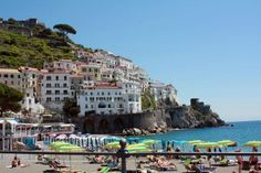 Amalfi was once a key port on the Mediterranean; now it is a popular seaside resort.
