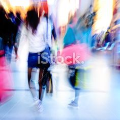 city business people crowd abstract Royalty Free Stock Photo