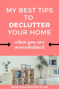 Decluttering when you are overwhelmed can be debilitating and even prevent you from starting. Read these 15 tips to declutter when you are overwhelmed! Picnic Plates, Declutter Your Life, Small Area Rugs, Soothing Colors, Organizing Your Home, Organising, Simple Living, Spring Cleaning, Getting Organized