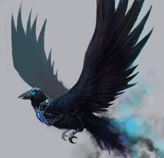 Imagen de bird, crow, and art Dark Creatures, Mythical Creatures Art, Magical Creatures, Creature Concept Art, Creature Design, Fantasy Beasts, Creature Drawings, Fantasy Races, Fantasy Monster