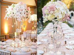 centros de mesa altos boda - Buscar con Google