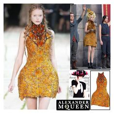 """""""Alexander Mcqueen DRESS contest!"""" by mirnela-alic ❤ liked on Polyvore featuring Alexander McQueen"""