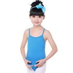 100% Cotton Gymnastics Leotards for Girls Leotard Dance Costumes Sportswear Blue