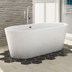 1700x800mm Ava Slimline Freestanding Bath Large with Silicone - soak.com