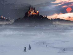 fantasy castle - Fantasy pictures and fantasy images Fantasy Places, Fantasy World, Fantasy Art, Fantasy Castle, Medieval Fantasy, Fantasy Inspiration, Story Inspiration, Writing Inspiration, Gothic Wallpaper