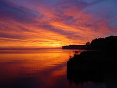 Sunrise over Toledo Bend reservoir, not too far from Tyler Copyright iStockPhoto.com/TehTreag #Tyler #Texas #Greatplaces
