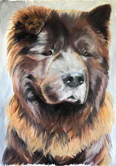 Portrait of my dog on Behance Dog Portraits, Daydream, Behance, Fine Art, Creative, Dogs, Painting, Animals, Doggies