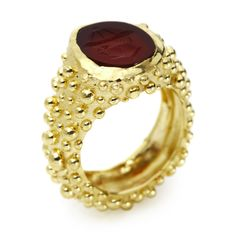 Milly Swire : Product : Carved Carnelian Signet Ring