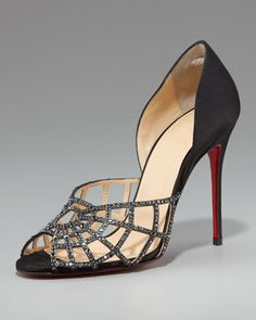 Christian Louboutin Spiderweb d'Orsay.  That's what I'm talking about! Halloween Fashionista Fabulous Witches Theme Party