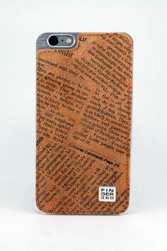 #carcasa #trasera #piel #bovino #autentica #estampado #periodico #marron #iphone6 #iphone6s #iphone6plus #iphone6splus