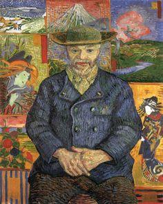 Vincent van Gogh - Portrait de Père Tanguy, 1887, oil on canvas