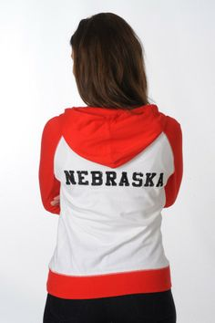 #Nebraska Raglan Fleece Jacket - University Girls Apparel. #Huskers #CornHuskers