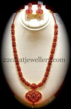 Jewellery Designs: Nalli Jewellers Ruby Long Chain