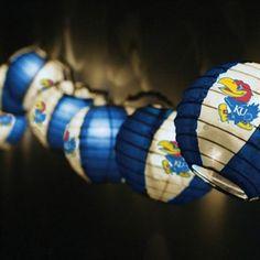 @Melissa Squires you need this for yr camper! Kansas Jayhawks Team Lanterns & Lights Set